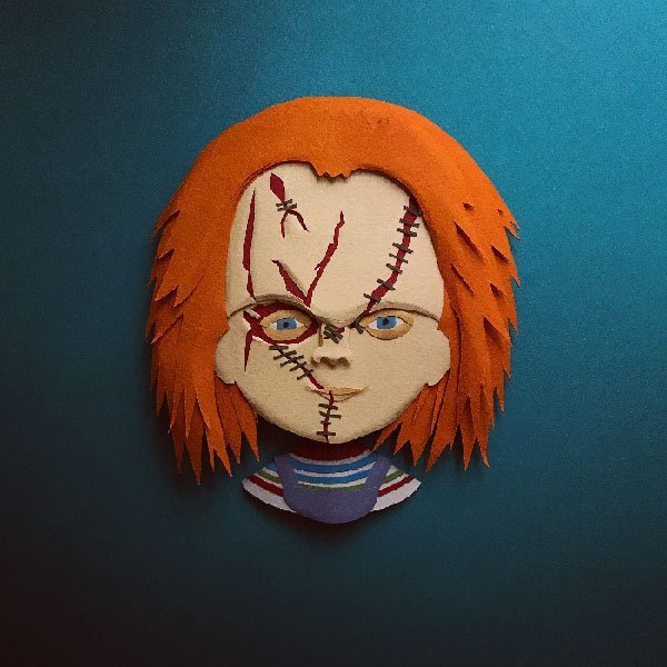 Chucky illustrazioni carta 3d