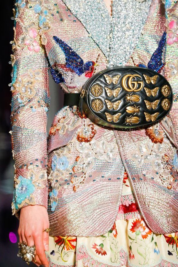 gucci, marsupio gucci, Alessandro michele, fall 2017, the uncool