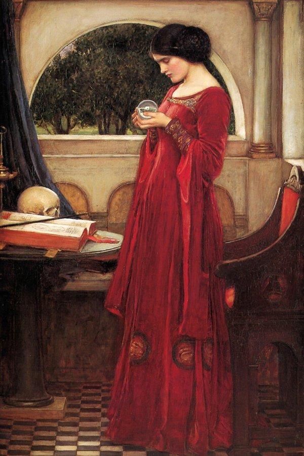 la sfera di cristallo J.W. Waterhouse