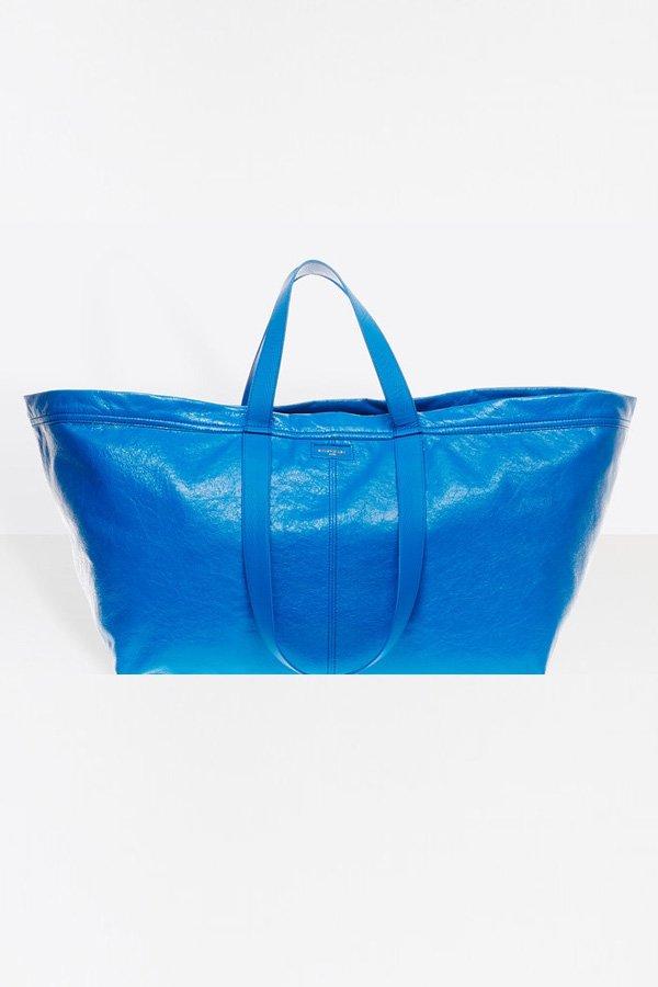 Balenciaga tote blu frakta ikea