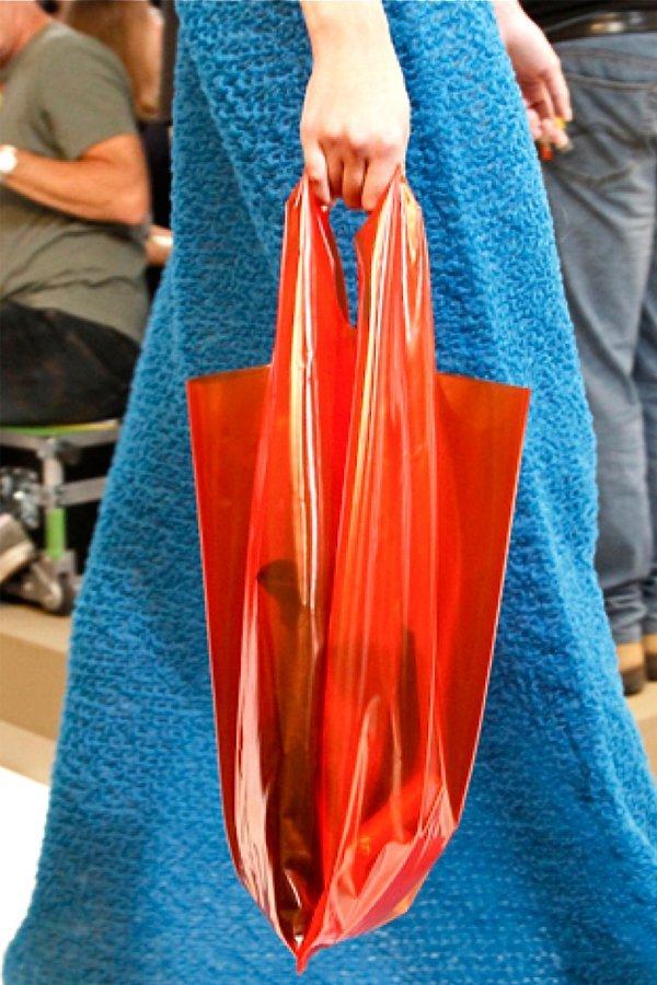 Jil Sander sacchetto plastica borsa