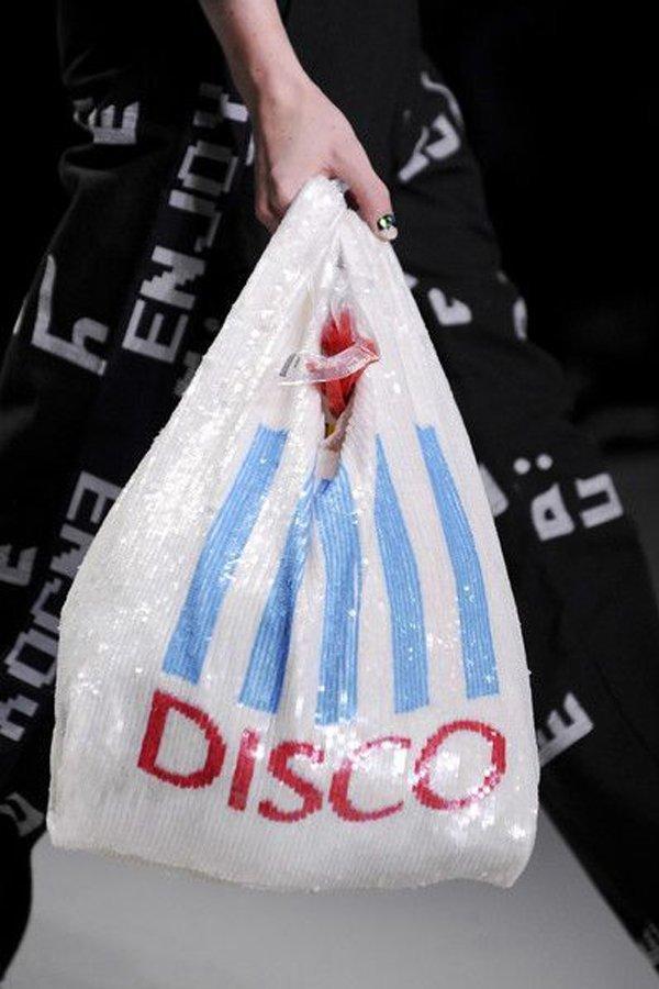 sacchetto di plastica, tendenza, ashish,