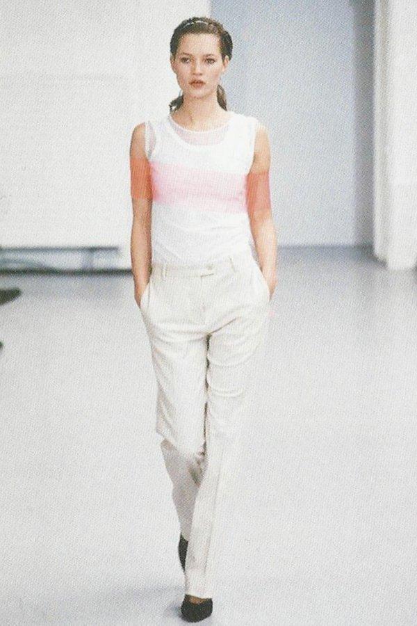 helmut lang, kate moss, minimalismo, anni 90,