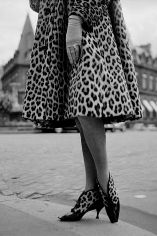 animalier, leopard coat christian dior, 1961