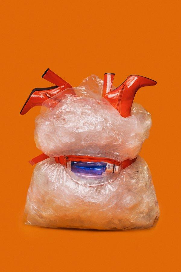 plastica riciclata nella moda, Martina Parente,