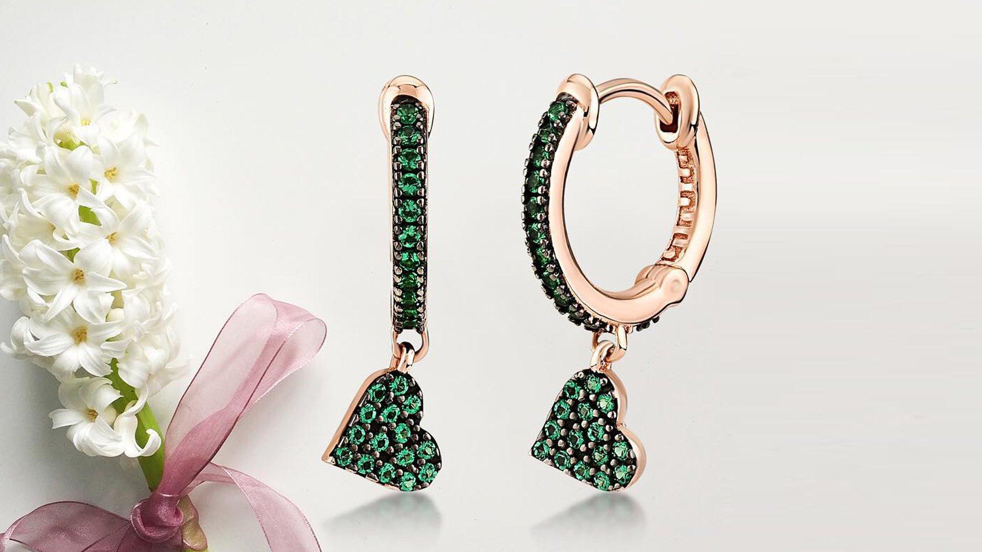 kurshuni jewels, regali, san Valentino, gioielli, orecchini smeraldi,