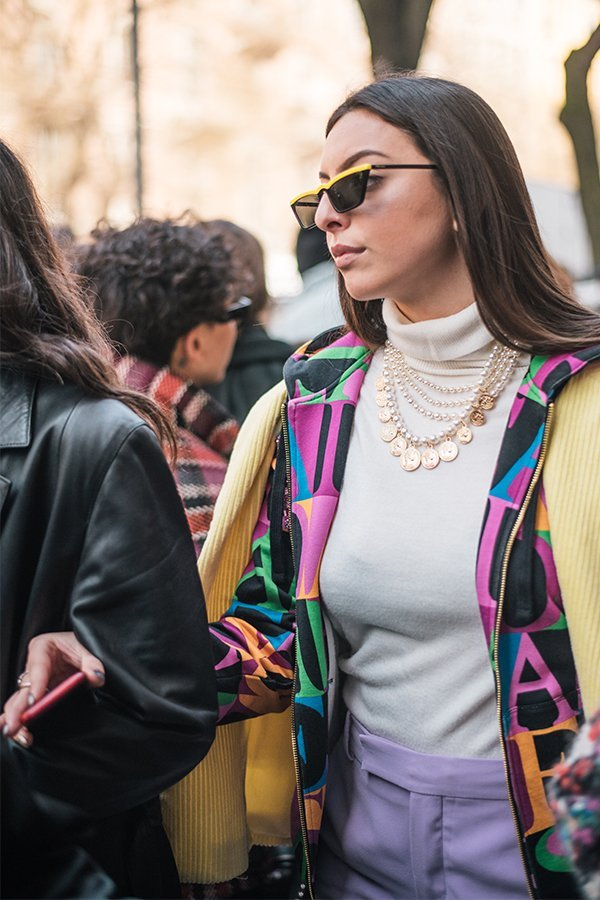 Streetstyle milano, fashion week, fw19, fendi