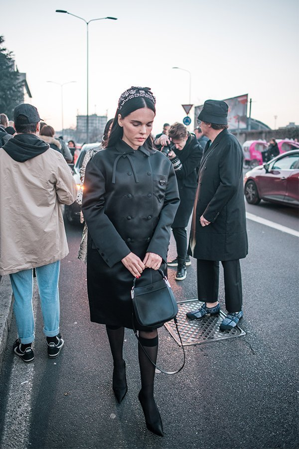streetstyle, Prada, milano fashion week, fw19