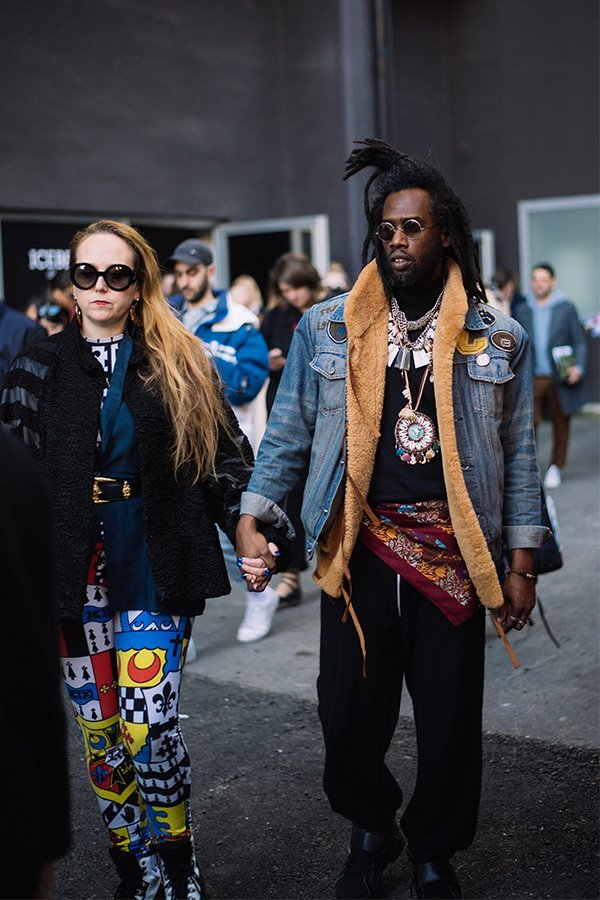 milano fashion week, iceberg, fw19, street style