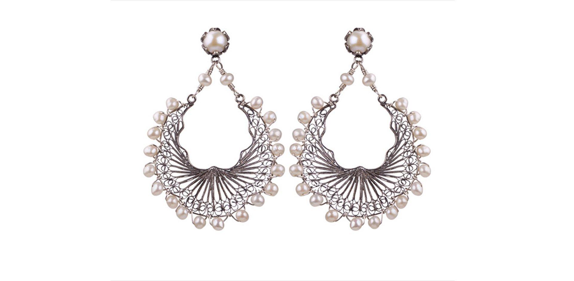 orecchini filigrana, perle, Yvonne christa, gioielli, festa della donna,
