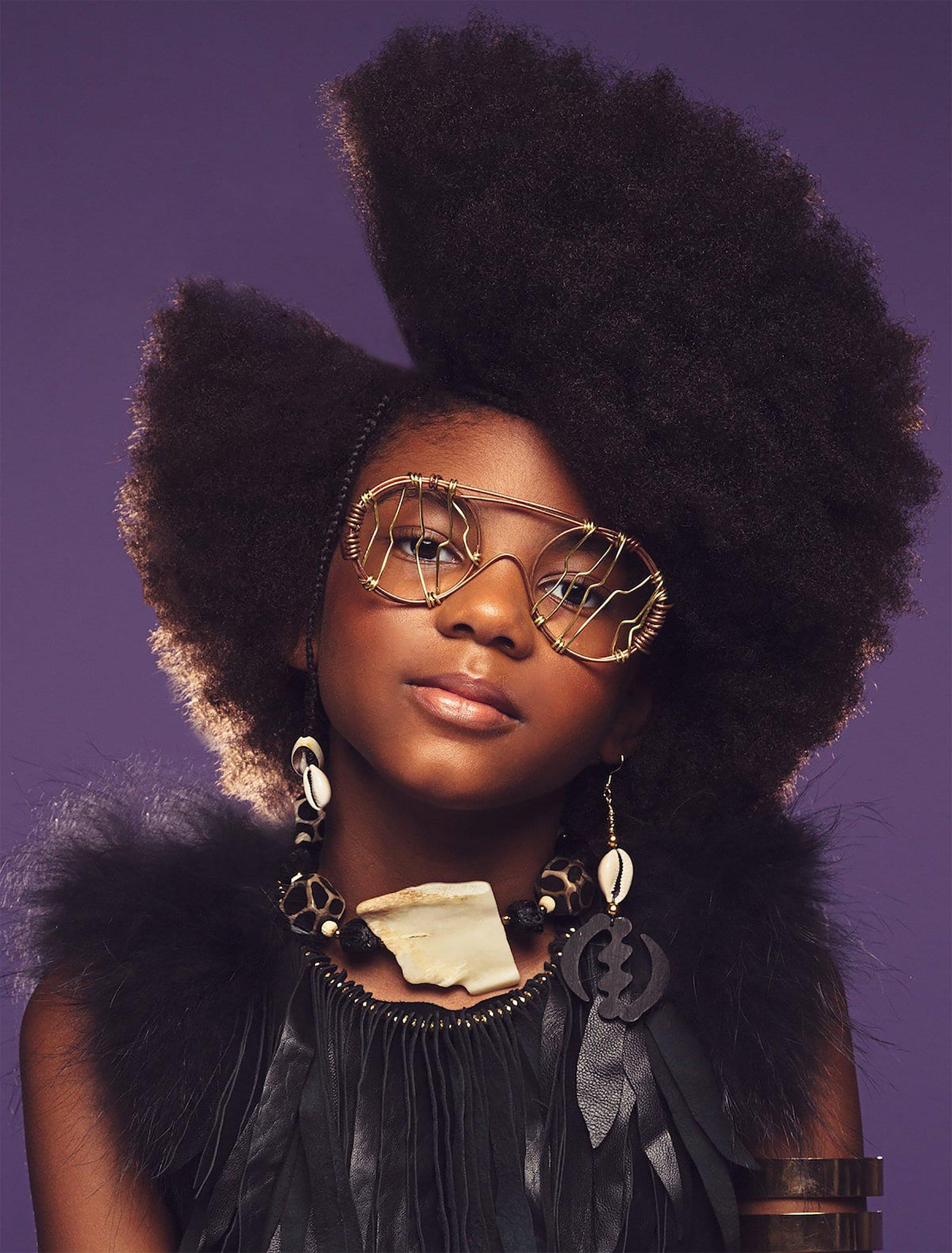 Afro Art, creative soul, capelli ragazze di colore, occhiali