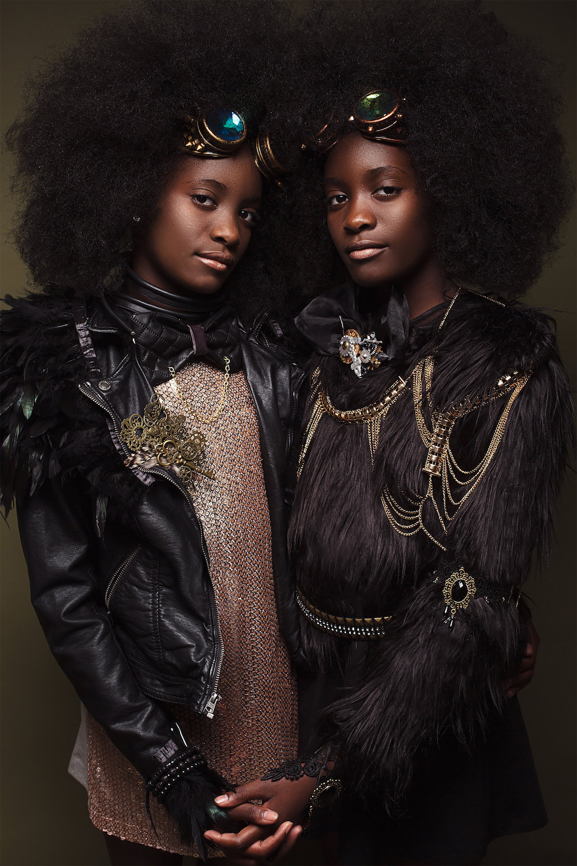 Afro Art, creative soul, steampunk, capelli ragazze di colore