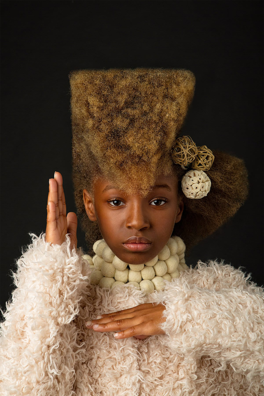 Afro Art, creative soul, stile barocco, capelli ragazze di colore