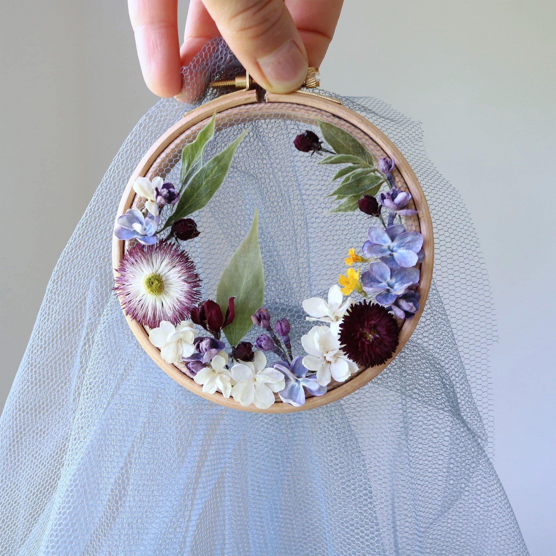 Intervista Olga Prinku, designer ricami in tulle, fiori secchi