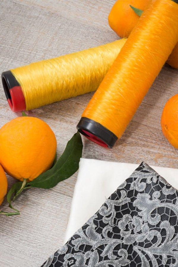 Orange, Fiber, filato, seta, arancia, seta, vegan