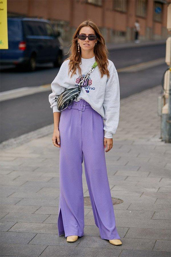 Streetstyle, trend, liliac