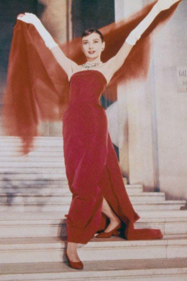 Audrey Hepburn, red dress