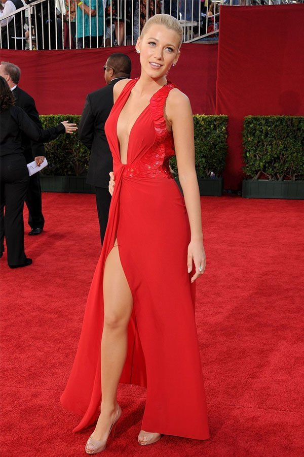 Blake Lively, abito rosso