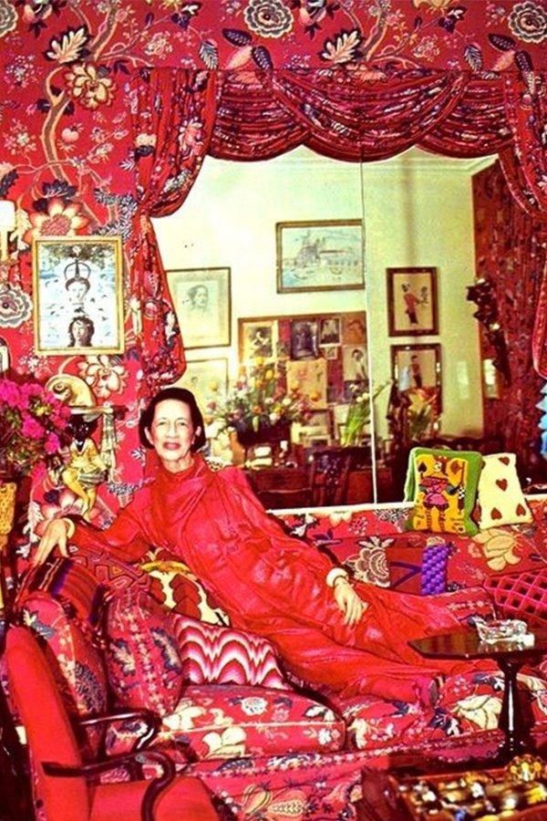 Diana Vreeland, colore rosso