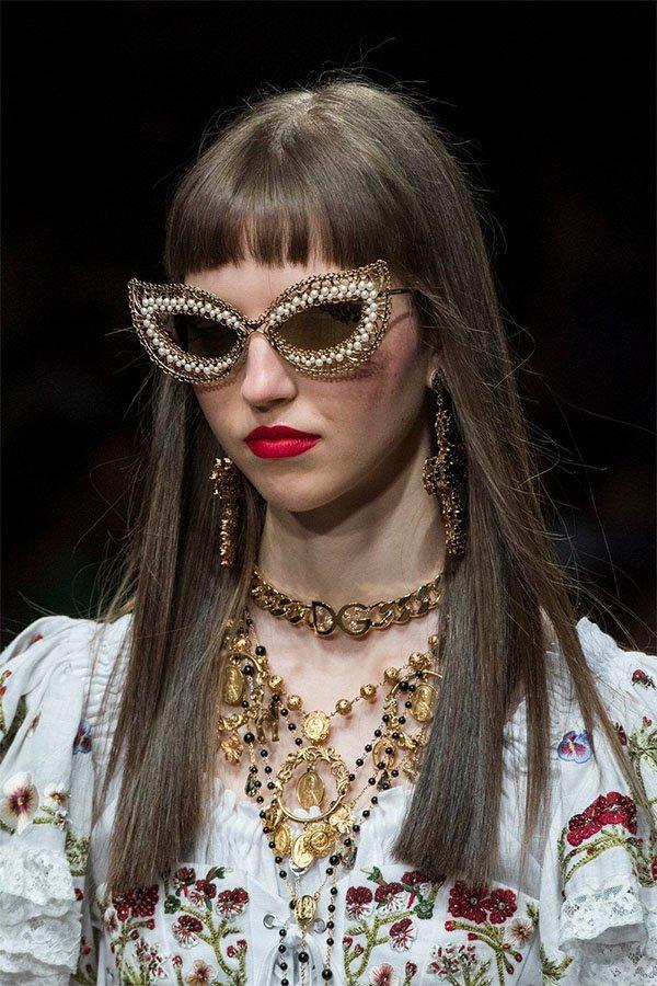 Dolce & Gabbana, sunglasses pearls 2019