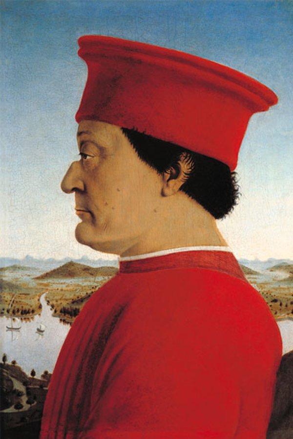 Federico da Montefeltro, vestito rosso