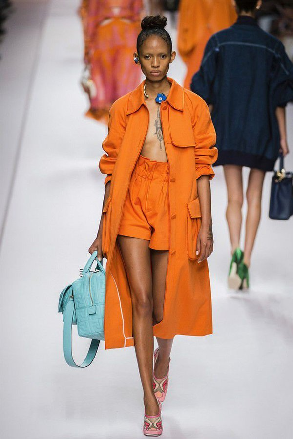 Fendi spring 2019, trench coat