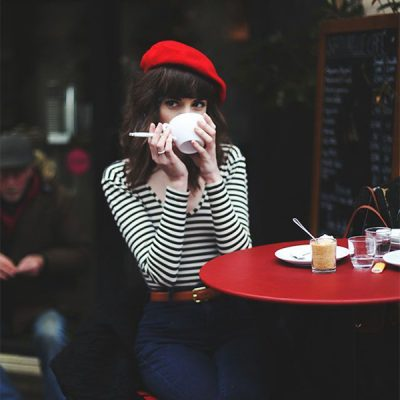 French-girl look, righe