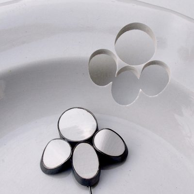 Gesine Hackenberg, gioielli, ceramica riciclata