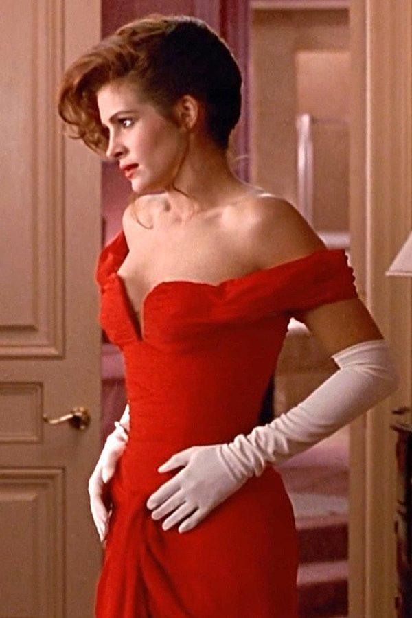 Julia Roberts, Pretty Woman, red dress