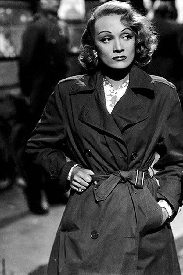 Marlene Dietrich, trend trench