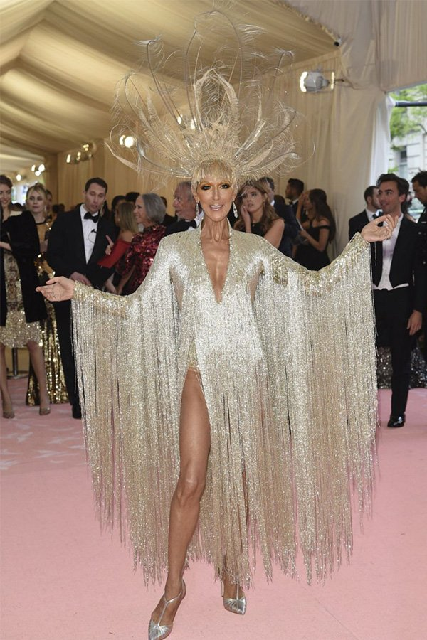 Met Gala 2019, camp, Celine Dion in Oscar de la Renta