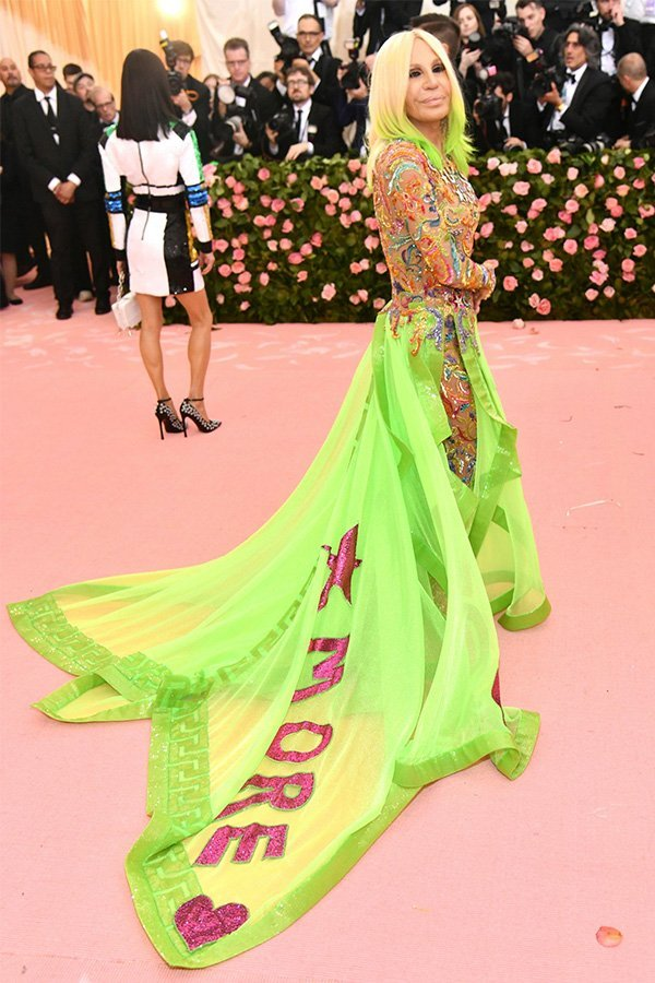 Met Gala 2019, camp, Donatella Versace in Versace