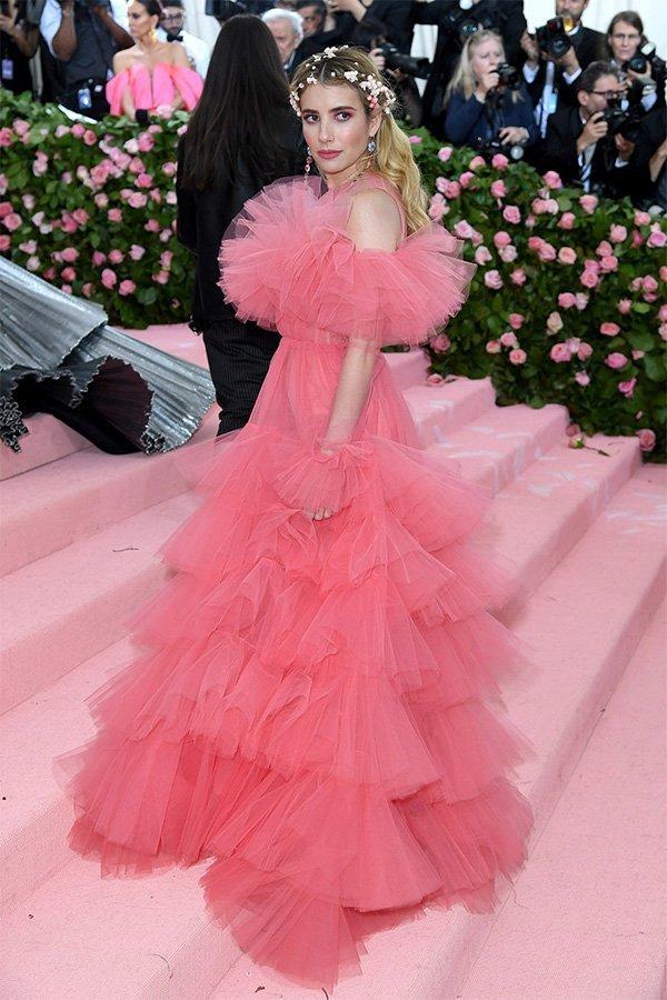 Met Gala 2019, camp, Emma Roberts in Giambattista Valli Haute Couture