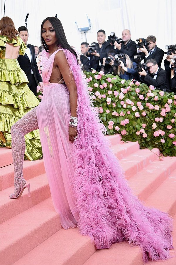 Met Gala 2019, camp, Naomi Campbell in Valentino