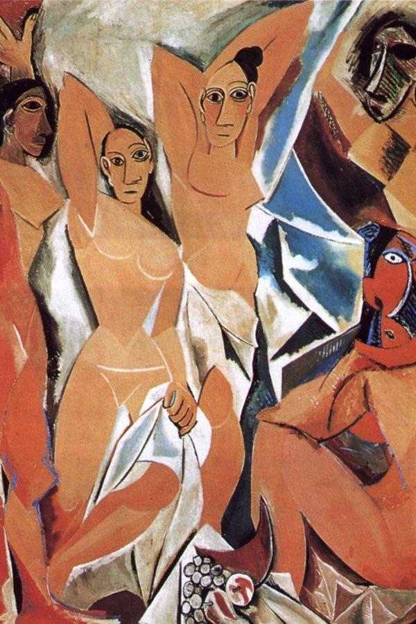Picasso, Les demoiselles d-Avignon, storia della maschera