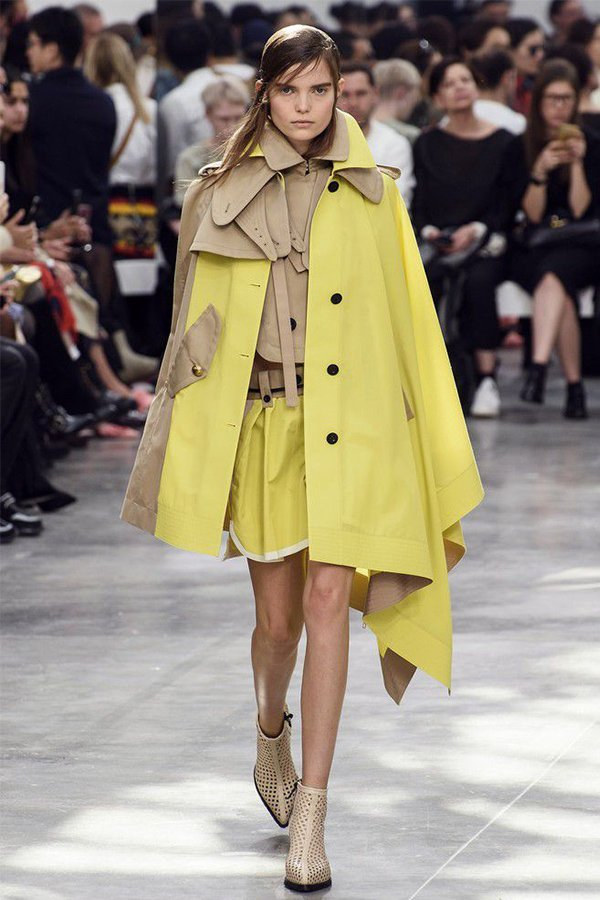 Sacai spring 2019, trench coat