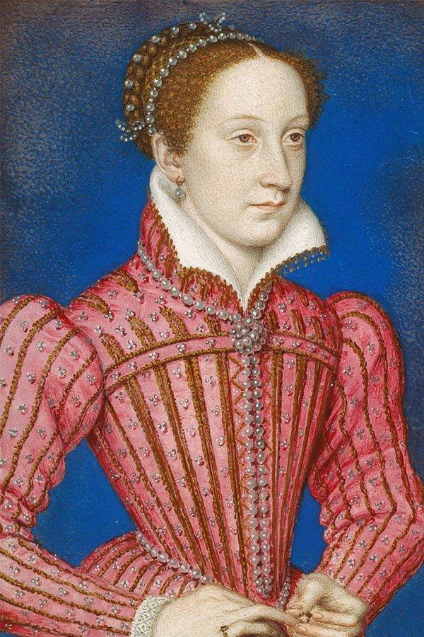 Storia delle perle, Regina di Scozia Maria, coda di perle nere