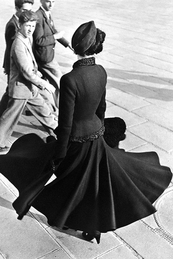 gonna a ruota, anni 50, storia moda,