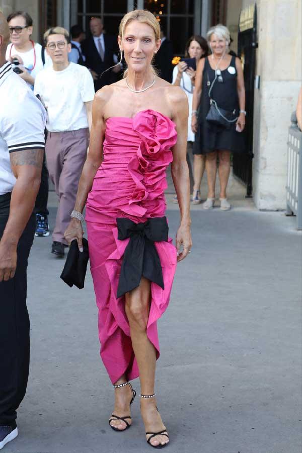 Celine Dion, Look, streetstyle, Paris, fashion week, haute couture,