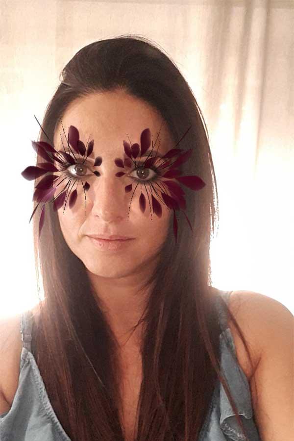vittoria ceretti, filtro Instagram, piume occhi, make up, Valentino,