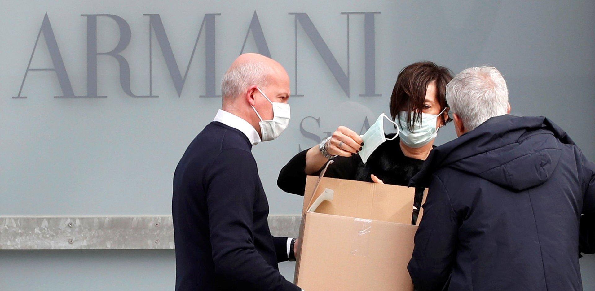 Covid19 futuro moda, Armani